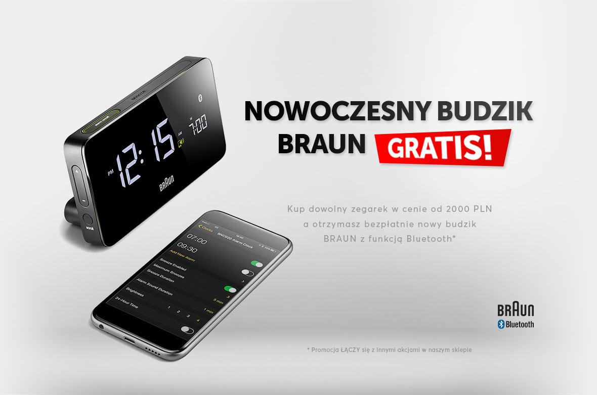 Budzik BRAUN Bluetooth gratis!