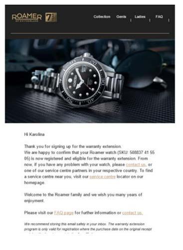 E-mail potwierdzający rejestrację