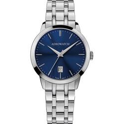 Aerowatch 42972 AA06 M Les Grandes Classiques zegarek męski na bransolecie z niebieską tarczą