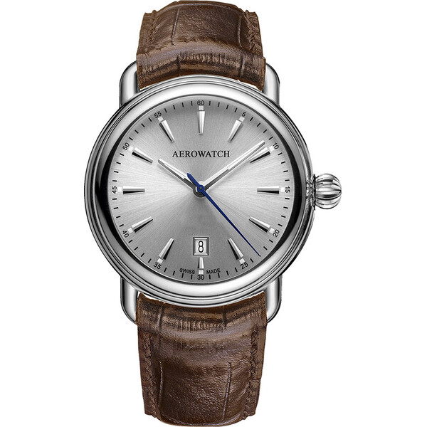 Aerowatch 1942 Elegance Quartz 42900 AA19 męski zegarek klasyczny w stylu retro.