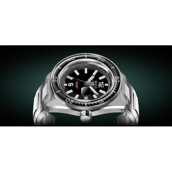 Ball Engineer M Skindiver III DD3608A-S1C-BK zegarek z czarną tarczą