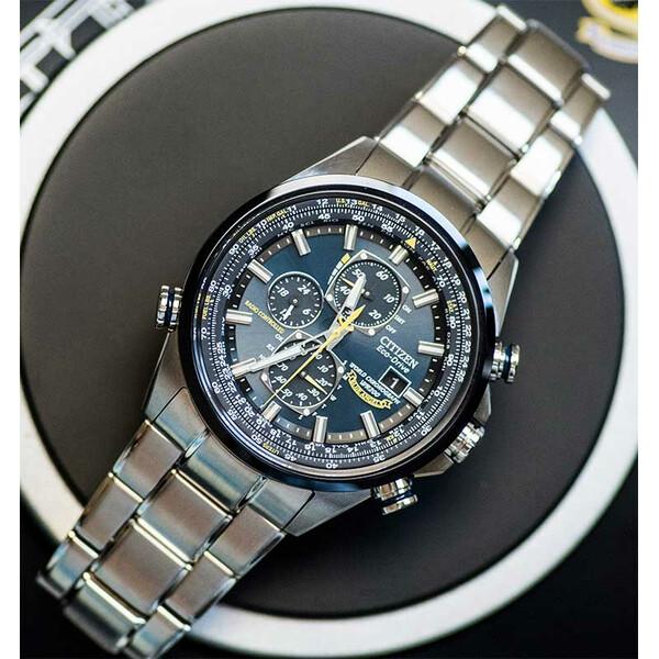 Citizen Radio Controlled Blue Angels AT8020-54L zegarek męski