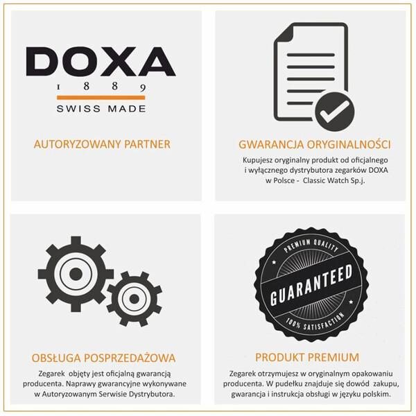 DOXA - autoryzowany sklep i serwis zegarków szwajcarskich. Tutaj bezpiecznie kupisz wyłącznie oryginalne zegarki DOXA.