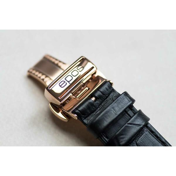Zapięcie motylkowe paska w zegarku Epos Oeuvre D'Art Verso II 3435.313.24.26.25