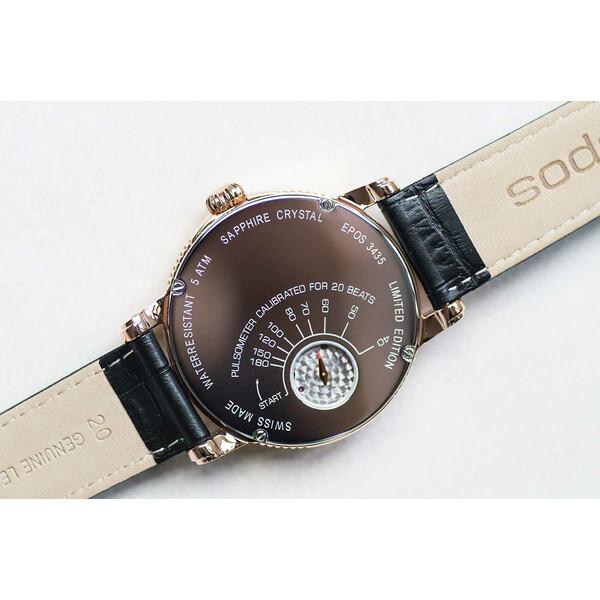 Dekiel z pulsometrem w zegarku Epos Oeuvre D'Art Verso II 3435.313.24.26.25