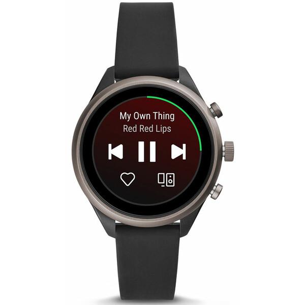 Fossil Sport Smartwatch FTW6024 BLACK SILICONE 4 generacji zegarek damski.