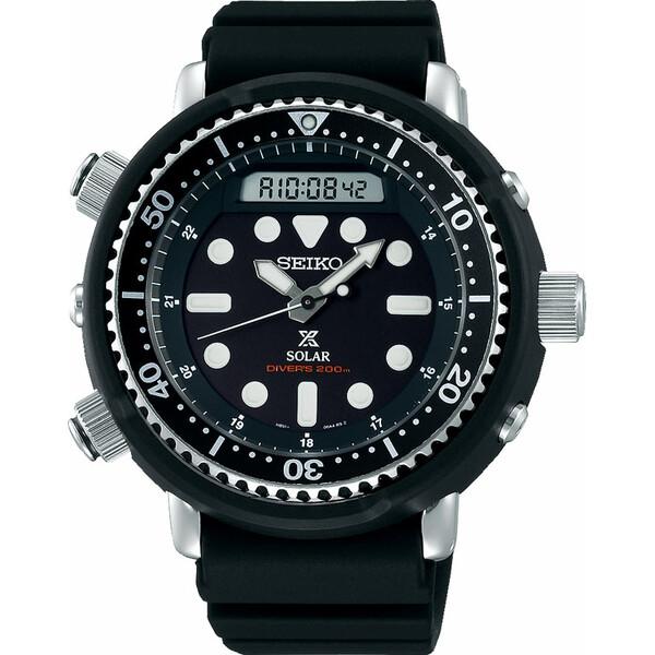Seiko Prospex Solar SNJ025P1 męski zegarek zasilany energią światła.