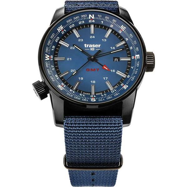 Traser P68 Pathfinder GMT Blue 109034 zegarek męski