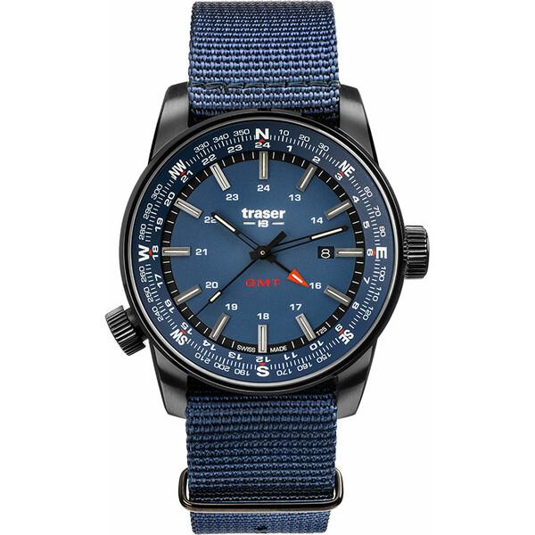 Traser P68 Pathfinder GMT Blue 109034 zegarek taktyczny z funkcją czasu GMT