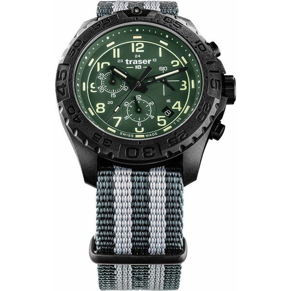 Zegarek męski Traser P96 Evolution Chrono Green 109048