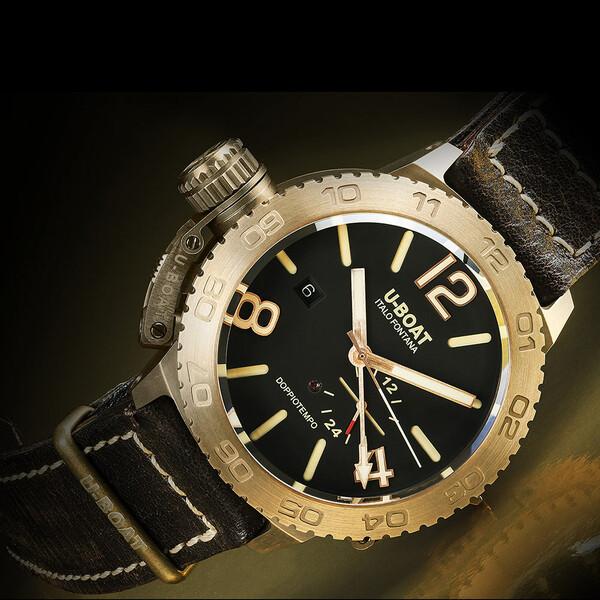 U-BOAT Doppiotempo Bronze 9008 zegarek klasyczny.
